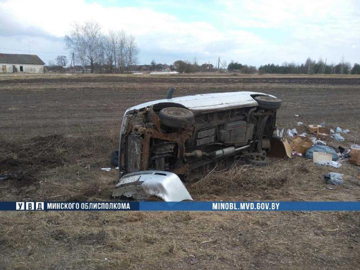 Автомобиль Peugeot вылетел в кювет и перевернулся в Пуховичском районе — водитель погиб