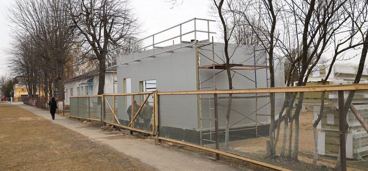 Что за здание строят около психоневрологического диспансера в Барановичах?