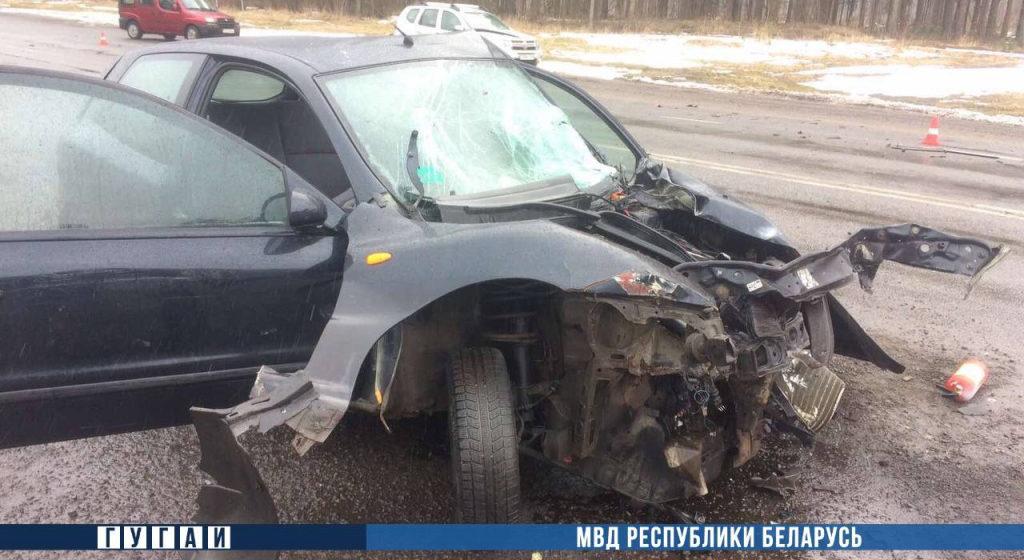 Автомобиль «Фиат» влетел в мусоровоз в Могилевском районе — пострадали 7 человек