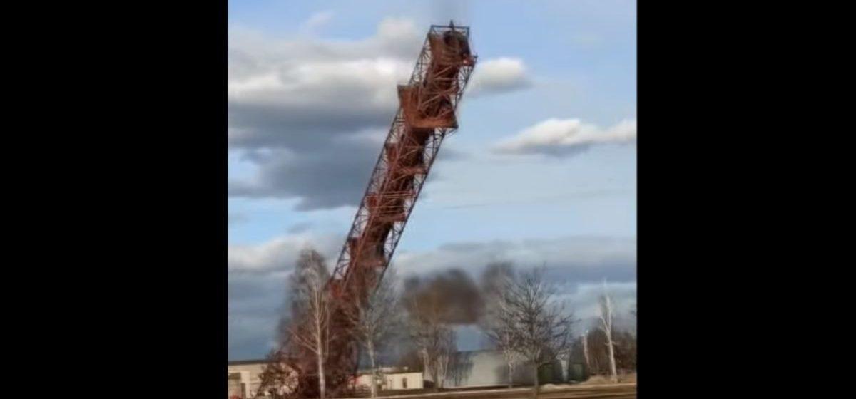 Смотрите, как в Светлогорске взорвали 100-метровую башню
