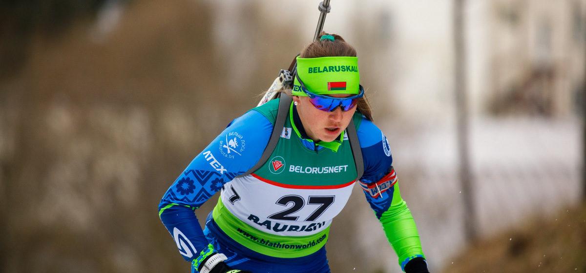Белорусская спортсменка заняла второе место на этапе Кубка мира по биатлону
