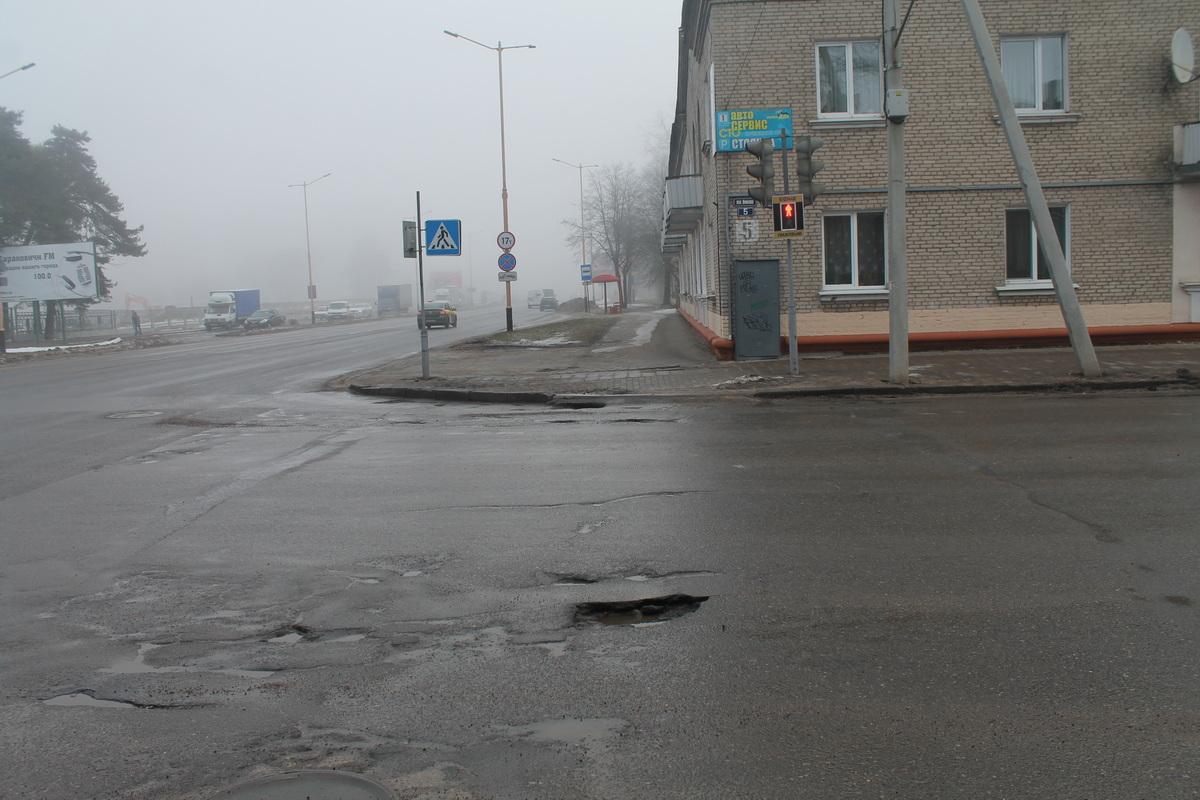 Перекресток улиц Войкова и Баранова. Фото: Татьяна МАЛЕЖ