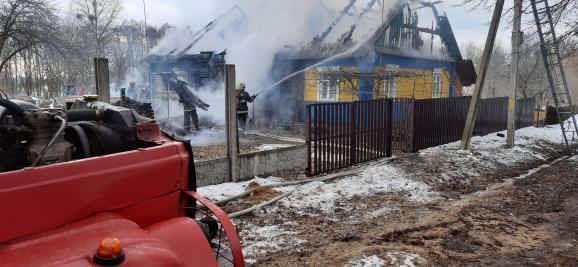 Пожар в Молчади. Фото: читатель Intex-press