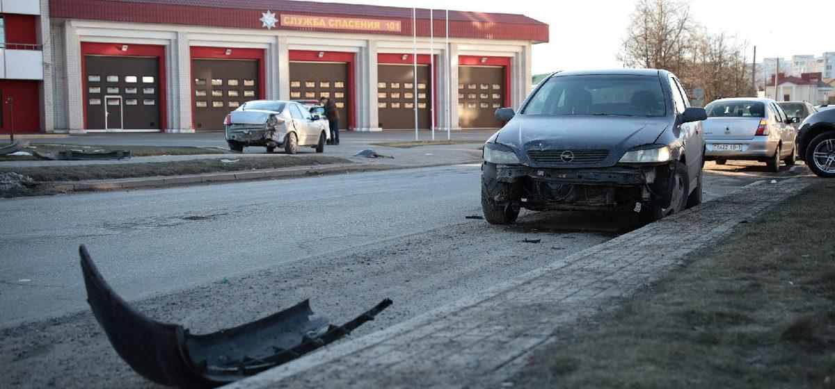 KIA и Opel столкнулись в Барановичах
