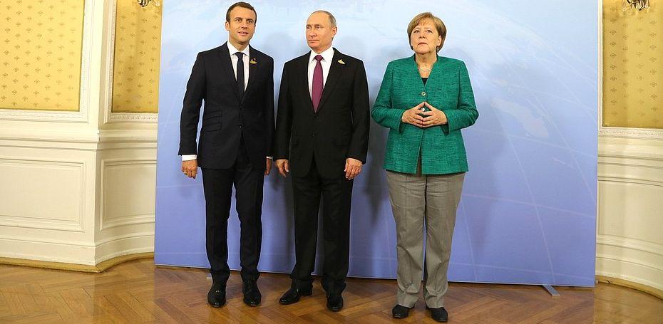 Макрон, Меркель и Путин обсудили ситуацию в Беларуси