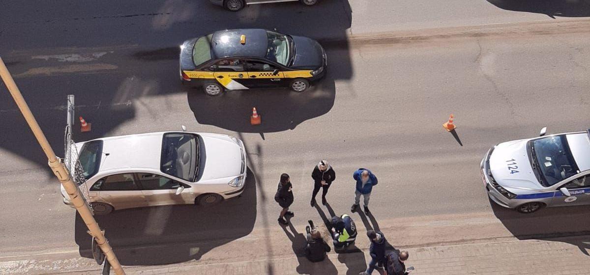 Женщину сбила машина в Барановичах. Фотофакт