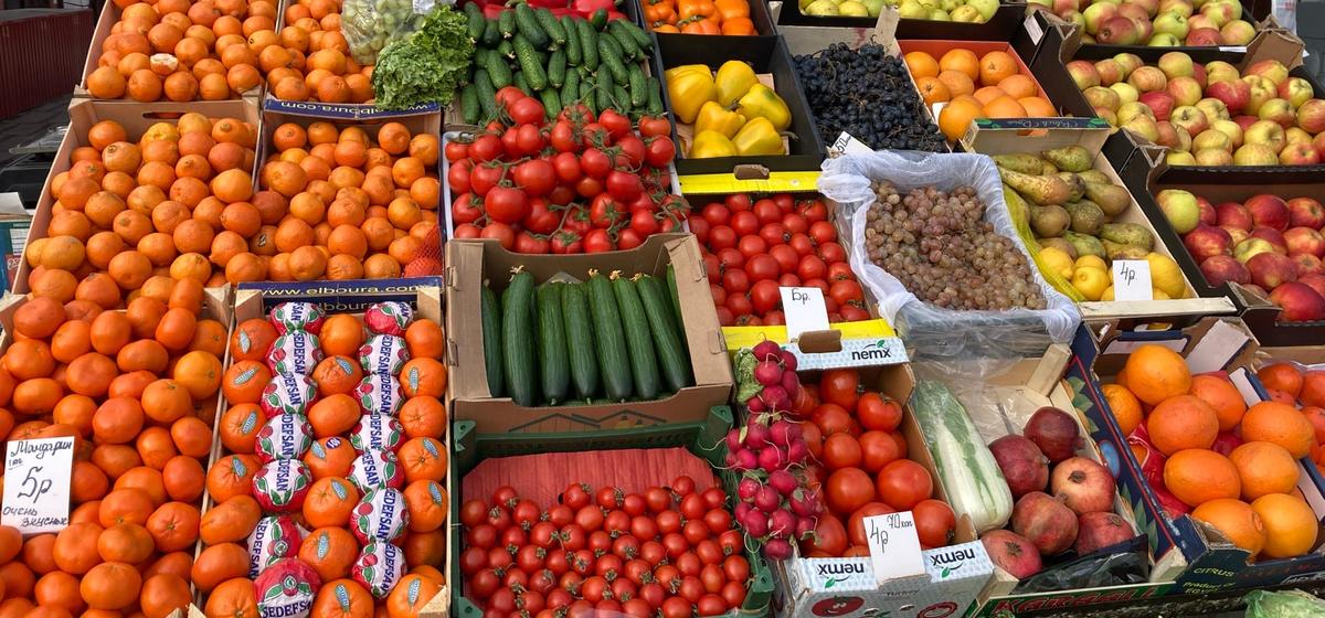 Что почем. Как изменились цены на овощи и фрукты на барановичском рынке за полгода