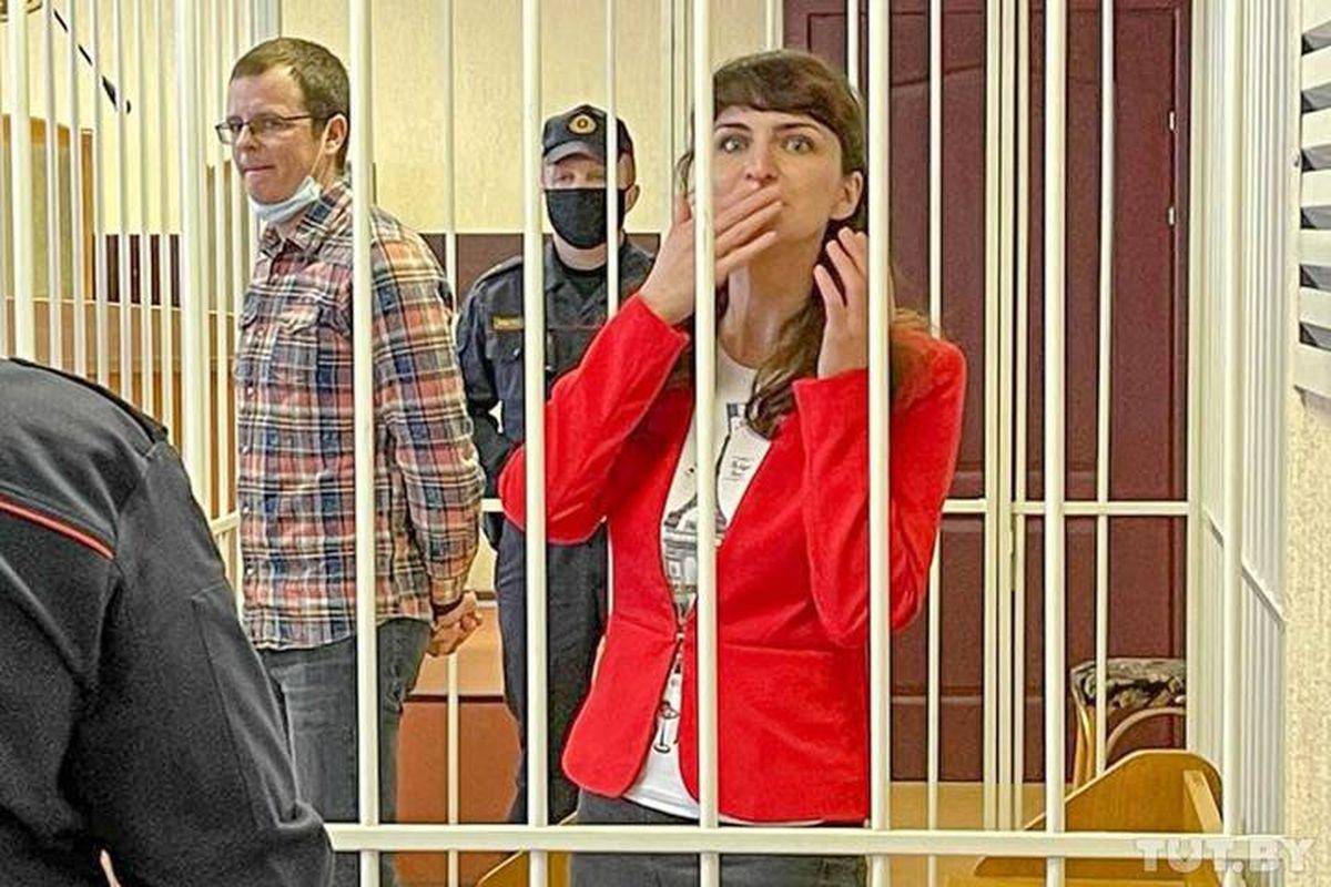 19 февраля 2021 года, Минск. Артем Сорокин и Катерина Борисевич. Фото: TUT.BY