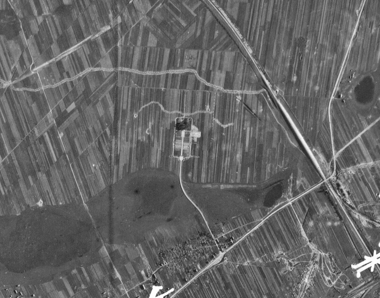 Фрагмент аэрофотосъемки города Барановичи, 1944