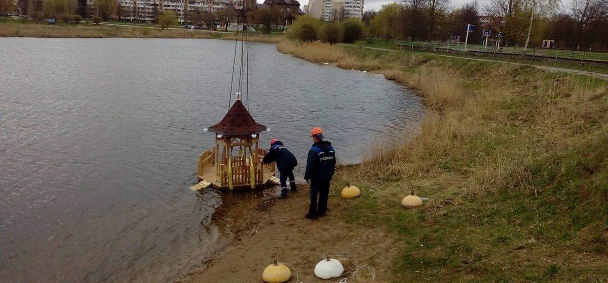 Что за домики запускают на Светиловском озере в Барановичах?