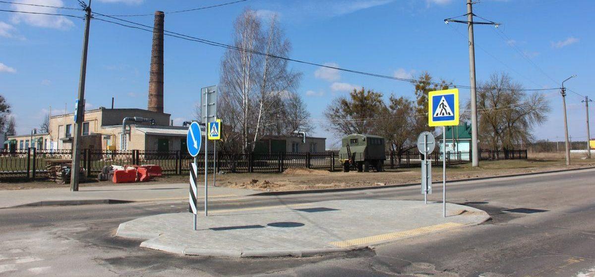 Островок безопасности оборудовали на аварийном участке улицы в Барановичах