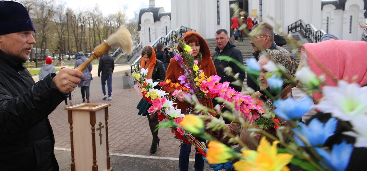 Как православные верующие празднуют Вербное воскресенье  в Барановичах. Фоторепортаж