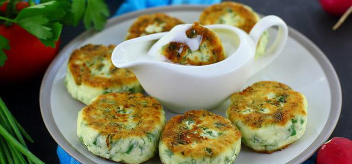 Вкусно и просто. Сырники с зеленью
