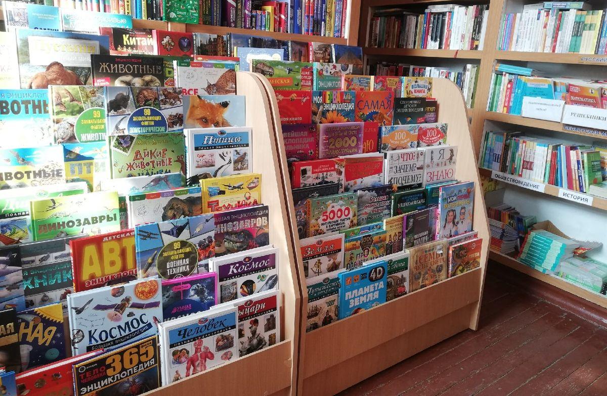 Десятки видов энциклопедий представлены в магазине «Книги» на улице Советской. Фото: Кристина СОБИНСКАЯ