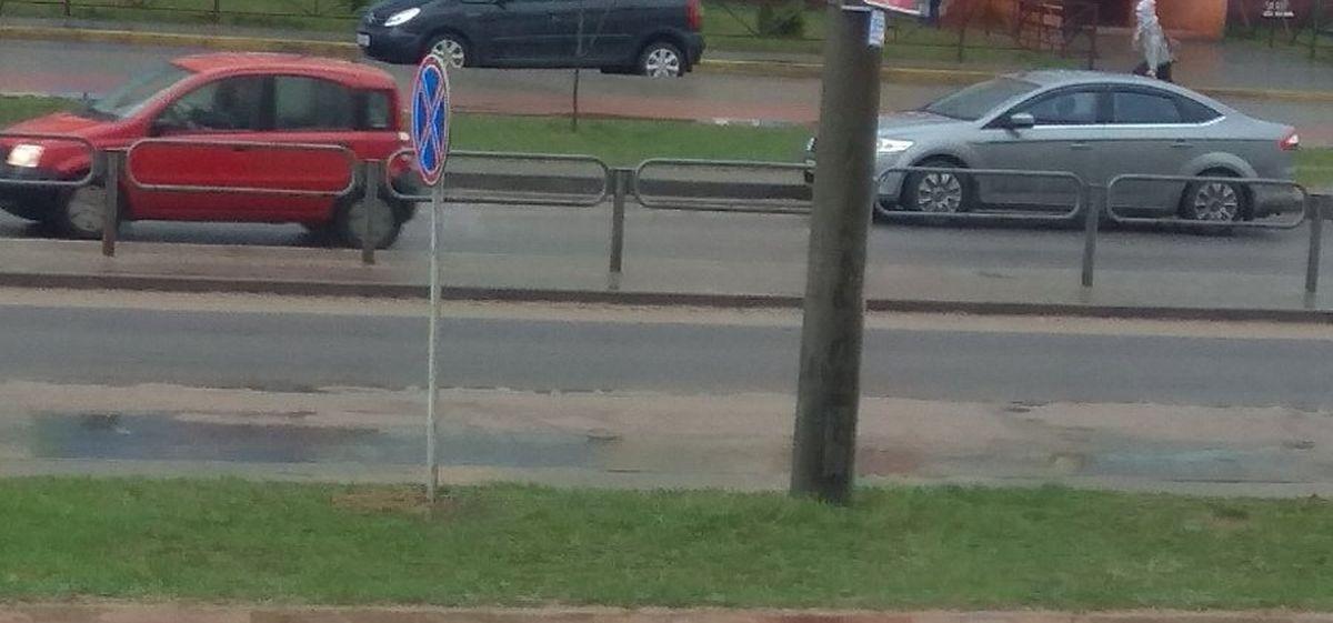 «Больше нельзя парковаться?». Новый дорожный знак взволновал жителей Боровков в Барановичах. Фотофакт