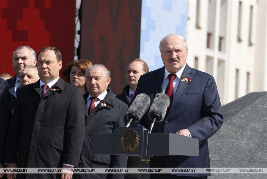 Александр Лукашенко на Параде 9 Мая. Фото: БЕЛТА