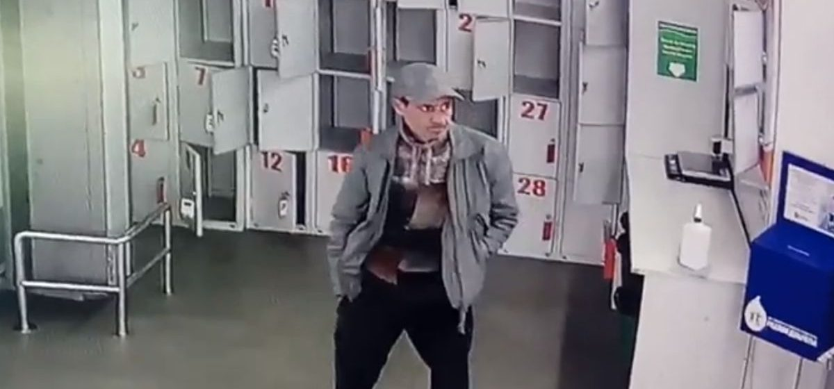 Барановичская милиция разыскивает подозреваемого в краже кошелька. Видео