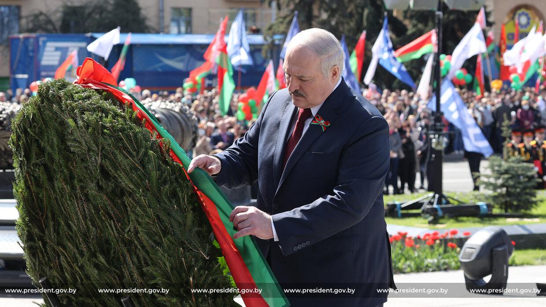 Александр Лукашенко на параде 9 Мая. Фото: https://president.gov.by/