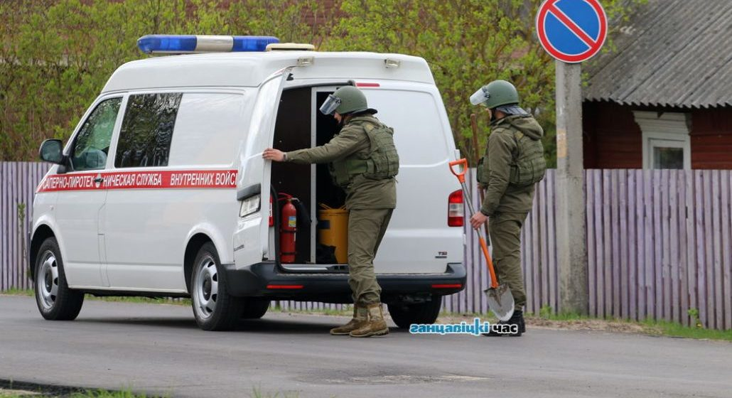 Возле здания суда в Ганцевичах нашли гранату — эвакуированы 15 человек