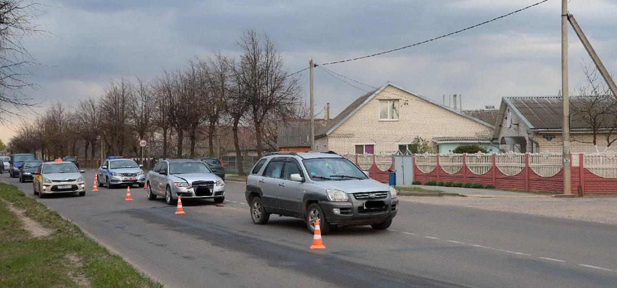 Audi догнала Kia в Барановичах