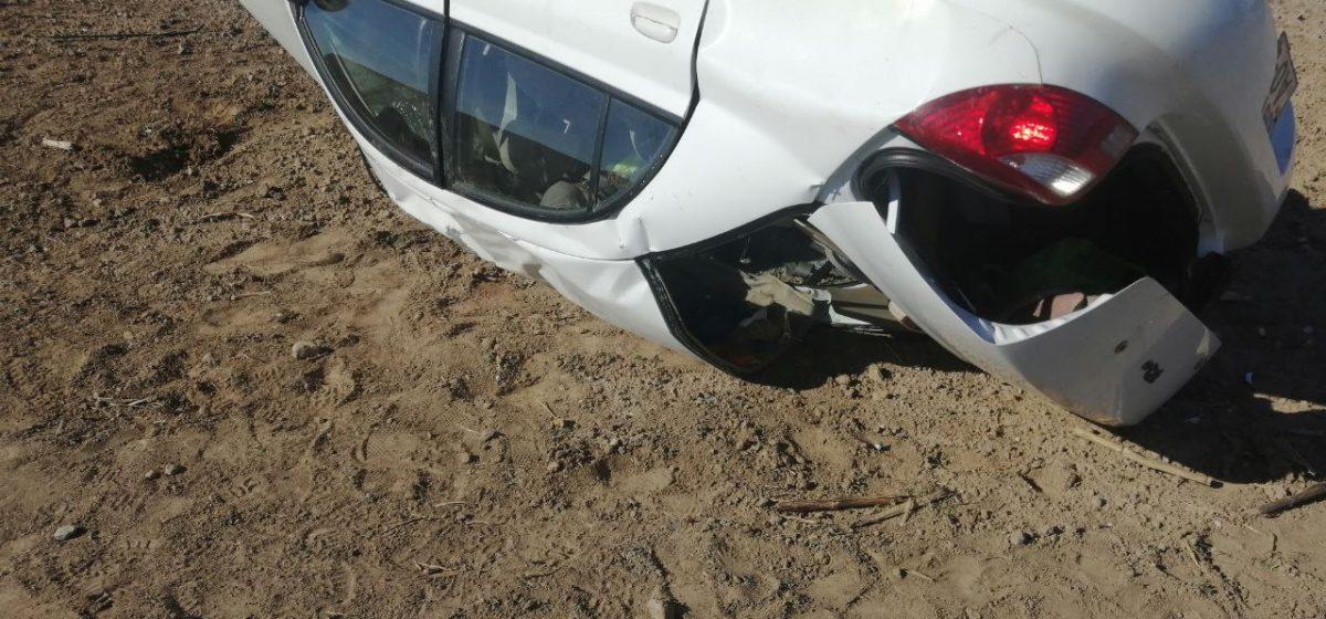 Легковушка вылетела в кювет и перевернулась под Слонимом – пострадала 52-летня женщина