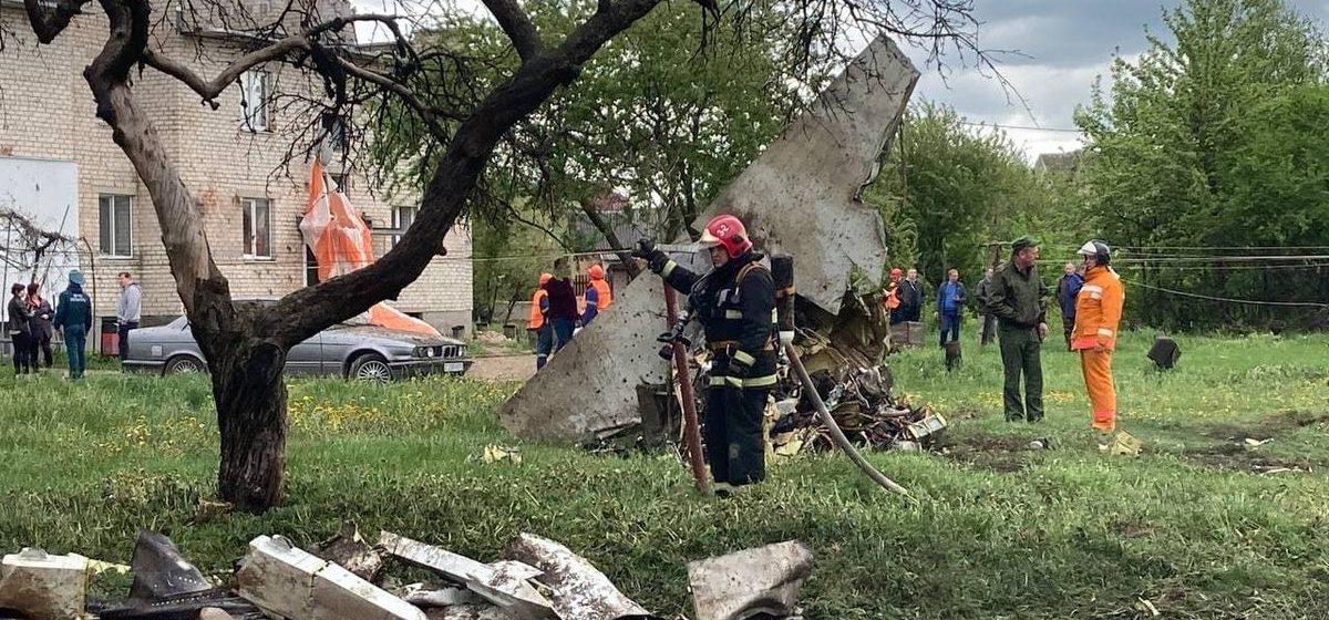 Очевидец снял видео через считанные минуты после падения самолета в Барановичах (видео 18+)