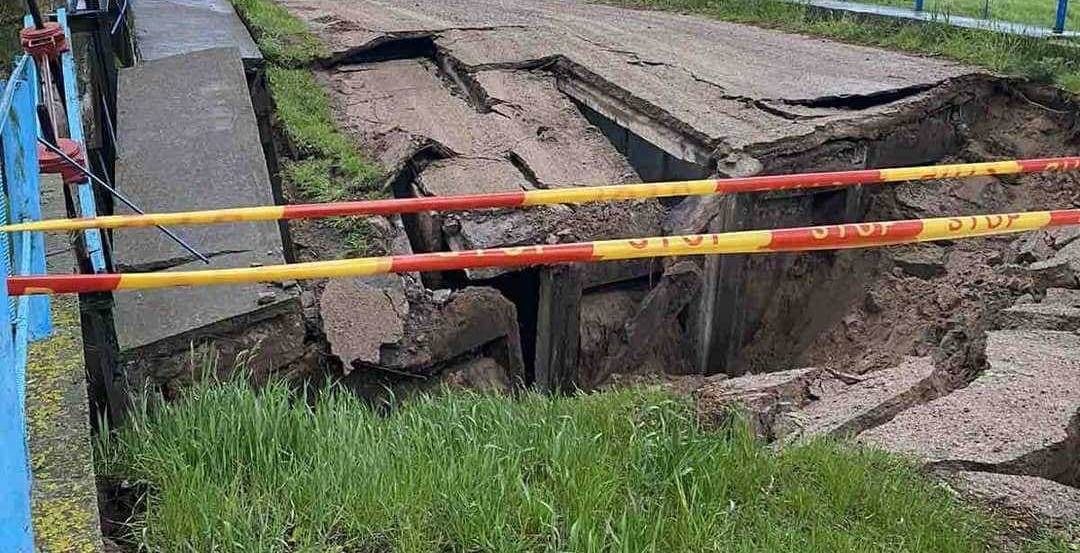 Мост обрушился в Пружанском районе
