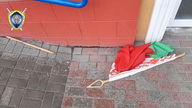 Жителя Барановичей подозревают в надругательстве над государственным флагом