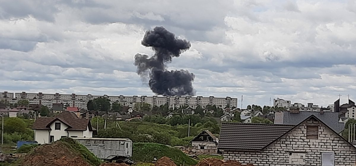 Самолет упал на Барановичи