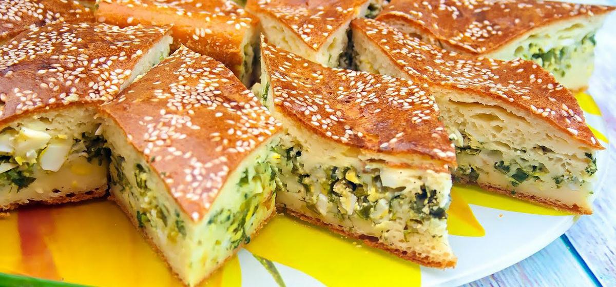 Как правильно приготовить заливной пирог с зеленым луком и яйцом. Видео