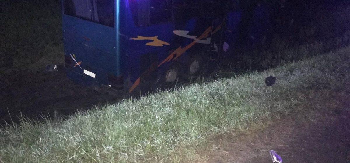 Пассажирский автобус вылетел в кювет под Оршей – пострадали три человека