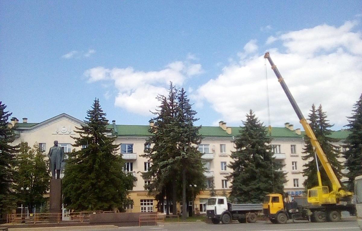 Памятник Ленину 4 июня 2021 года