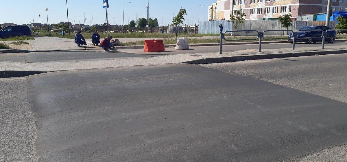 Новые искусственные неровности появились на дороге в Боровках. Фотофакт