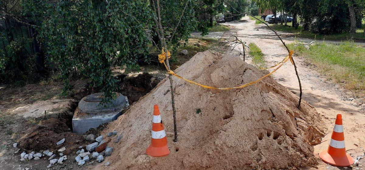 Зачем раскопали улицу Березовую в Барановичах? Фотофакт