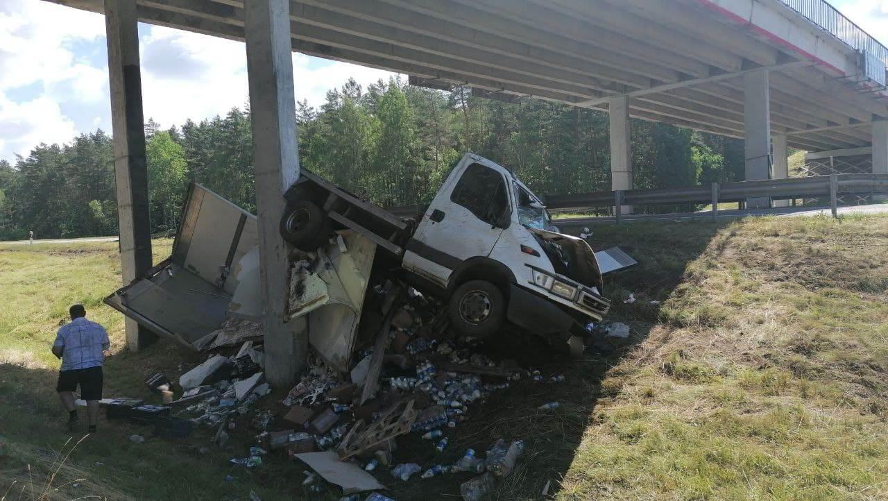 ДТП на М-1 грузовик