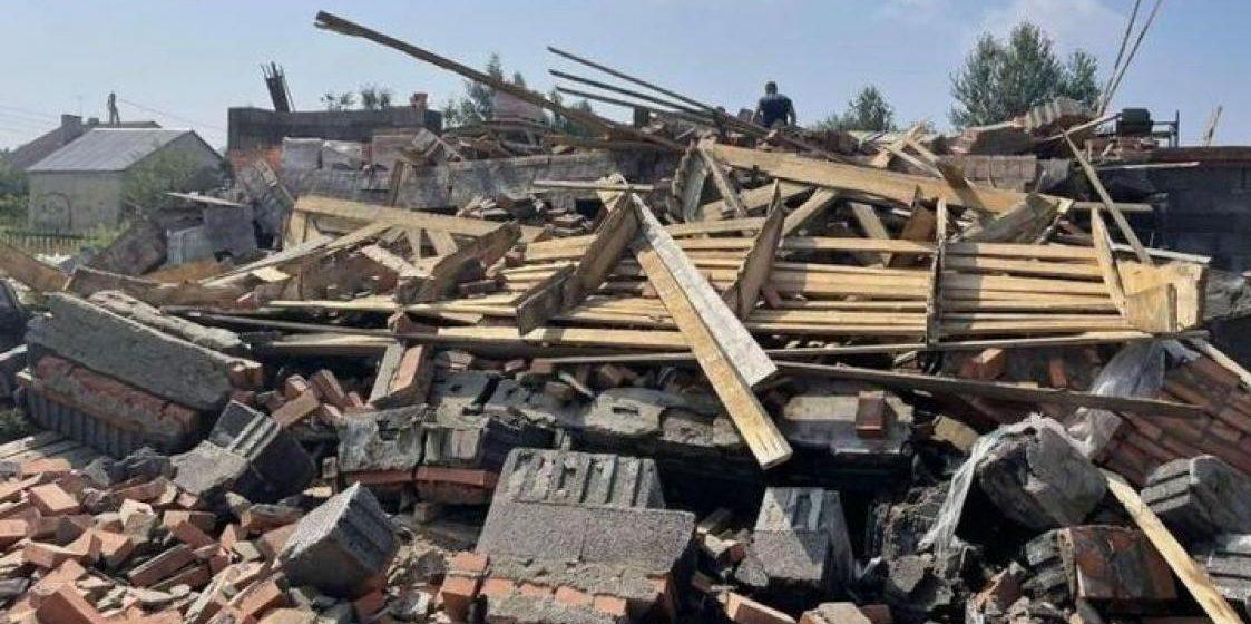 Храм-часовня Вознесения Господня обрушился под Минском. Фото