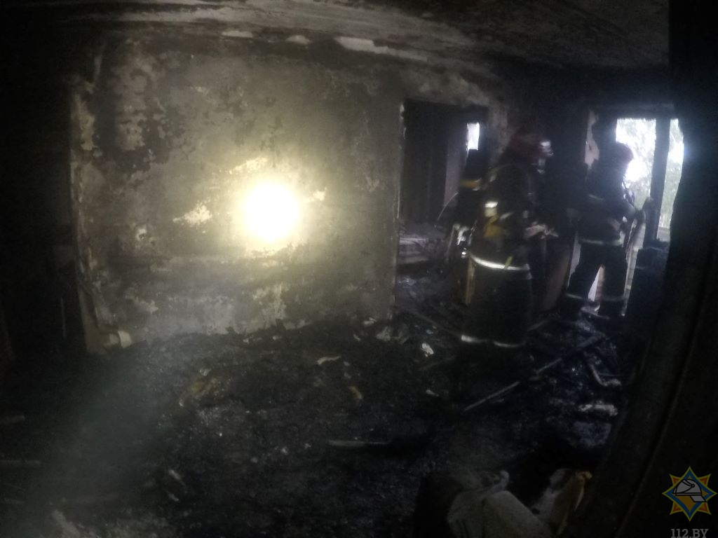 Пожар на улице Брестской 10 июля Барановичи