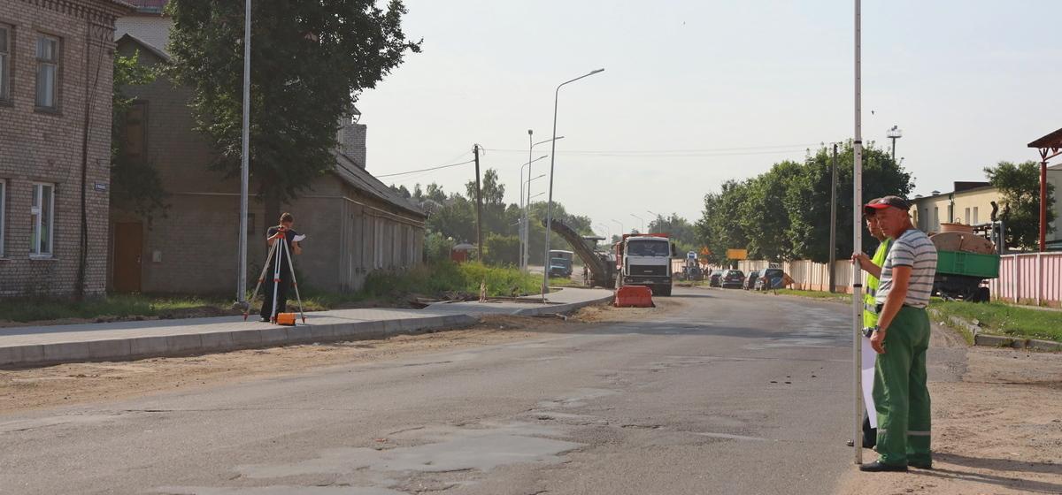 Как ремонтируют улицу Фроленкова в Барановичах. Фотофакт
