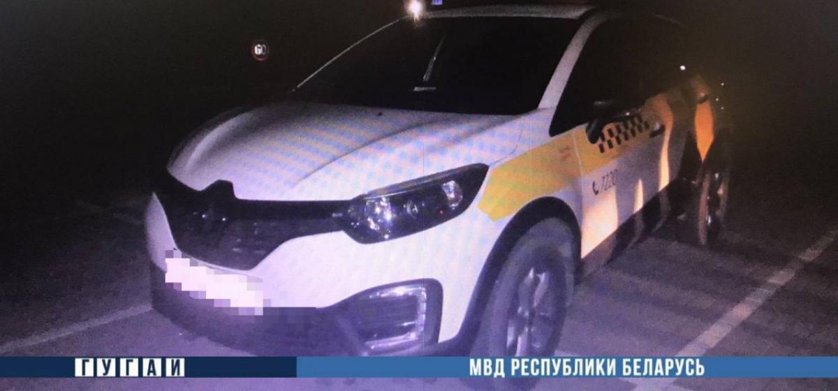 Пьяный минчанин попал под машину такси в Барановичах