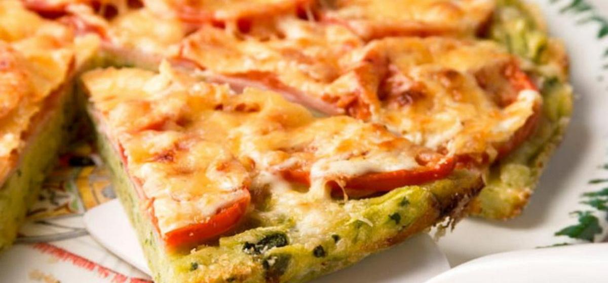 Вкусно и просто.Пицца из кабачков с курицей и помидорами в духовке