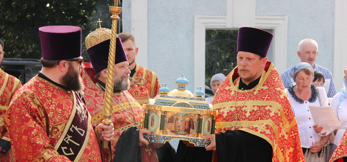 Мощи Александра Невского привезли в Барановичи. Фоторепортаж