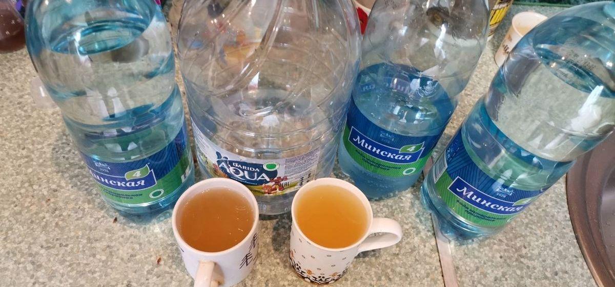 «За два года вторую стиралку поменяли». Семья из Барановичского района жалуется на ржавую воду из крана