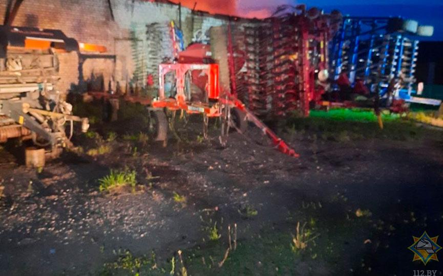 Склад горел под Барановичами