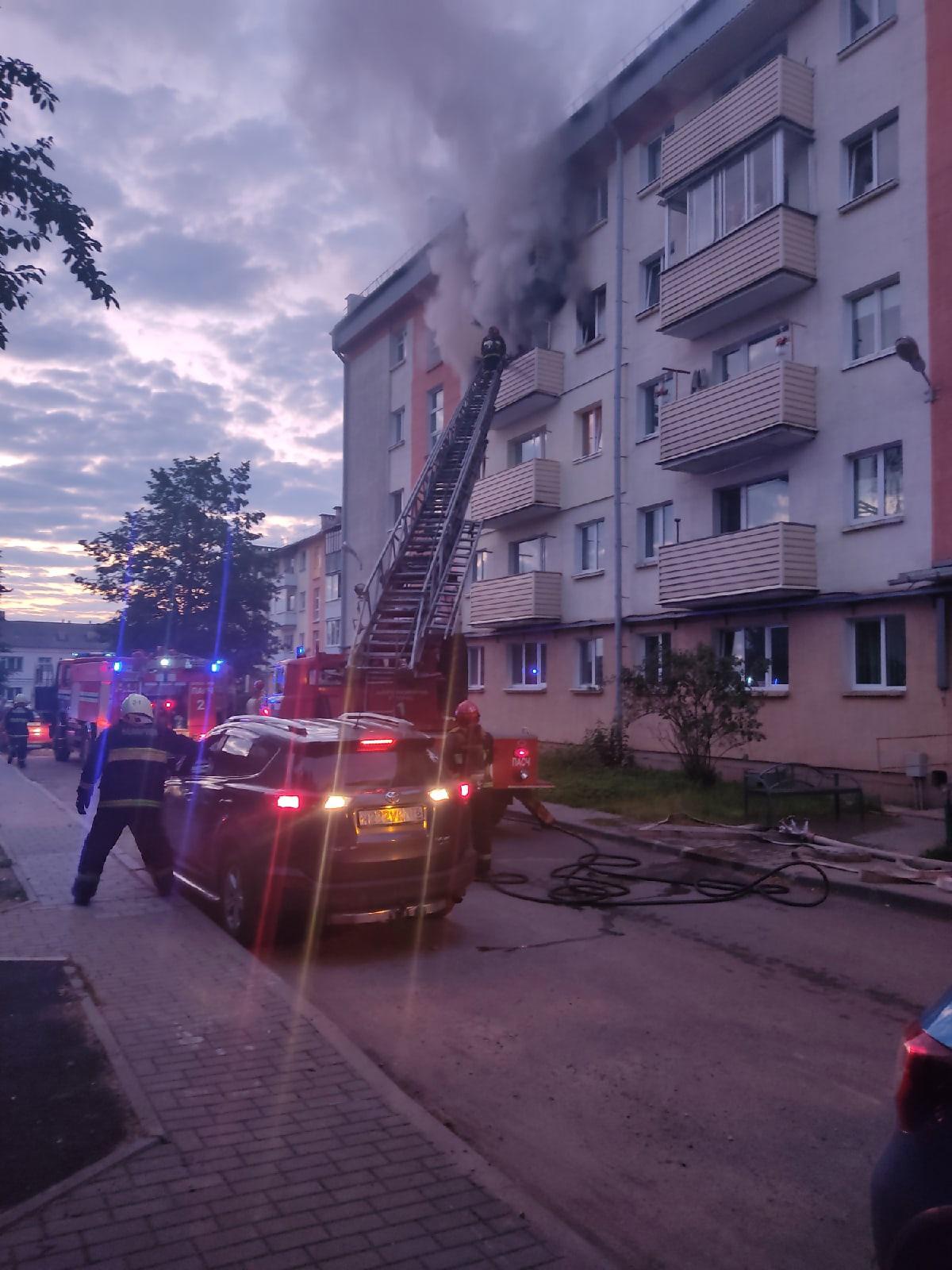Пожар на улице Брестской 10 июля