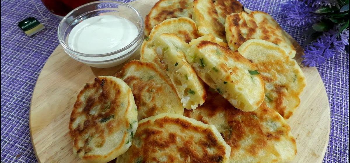 Вкусно и просто. Ленивые пирожки с зелёным луком и яйцом