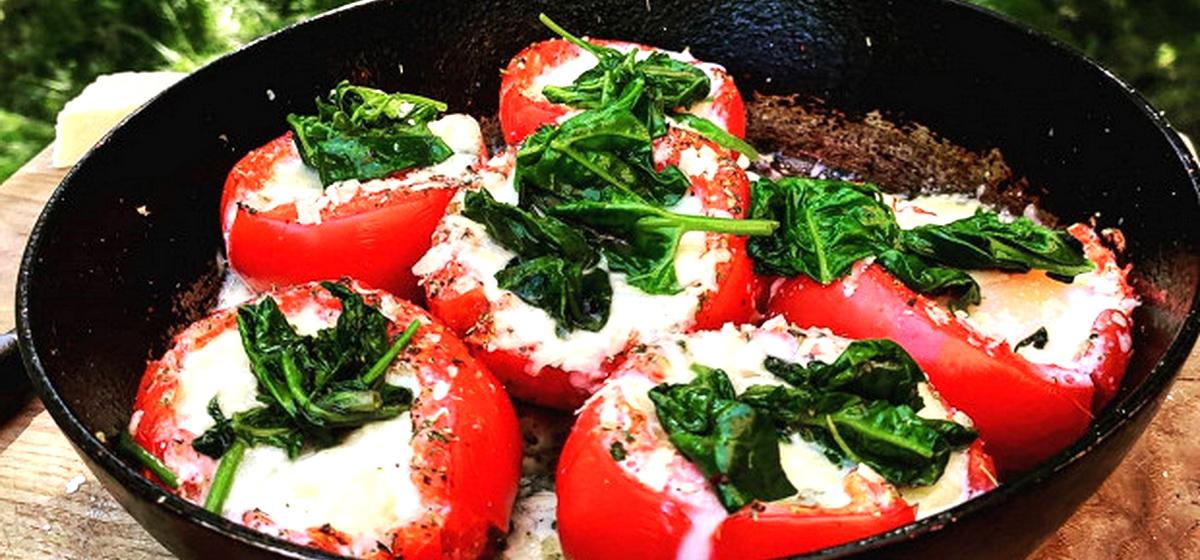 Вкусно и просто. Легкий завтрак из помидоров с начинкой