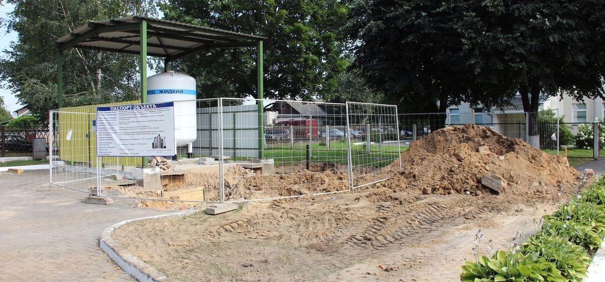 Что строят на территории городской больницы в Барановичах