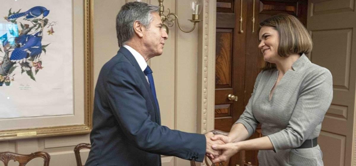 О чем говорила Тихановская с госсекретарем США Блинкеном