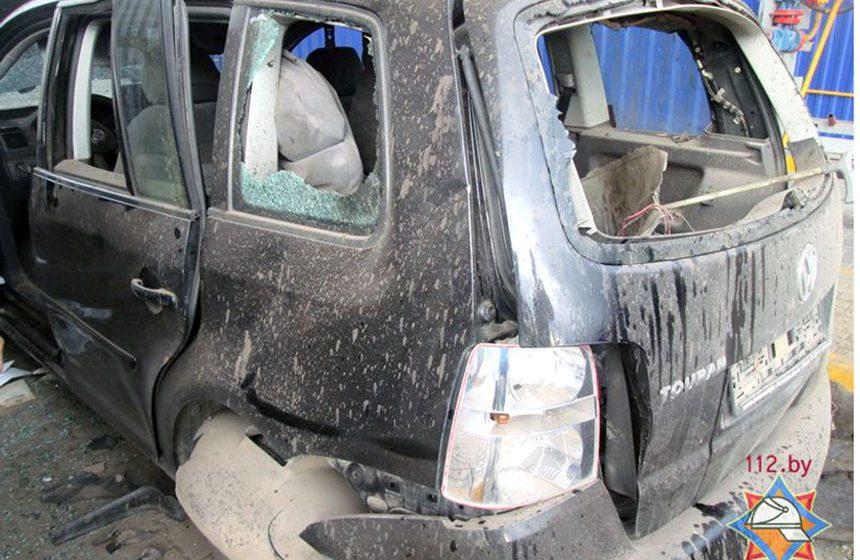 В 2016 году на заправке в Барановичах водителю VW оторвало ногу при взрыве баллона. На днях осудили виновного в происшествии