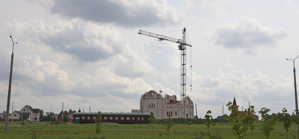 Как идет строительство нового храма в Барановичах. Фоторепортаж